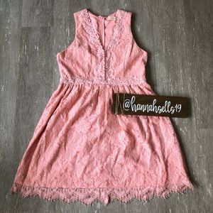 Altar'd State Pink Lace Dress Size Large
